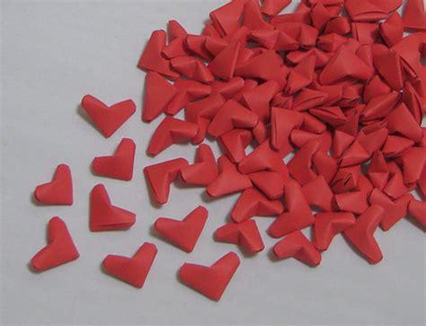 small origami hearts small origami hearts 100 paper hearts