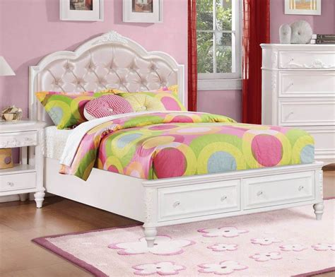 pretty bedroom furniture pretty white pink footboard storage youth bed