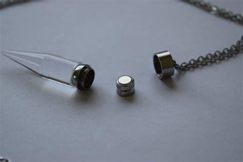 led light necklace light up glow pendant necklace eternity led