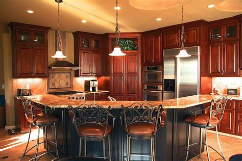 kitchen island cherry wood 52 kitchens with wood and black kitchen cabinets