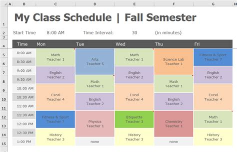 for to make at school back to school transform class schedule to pivottable