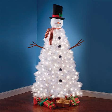 illuminated outdoor trees illuminated snowman tree the green