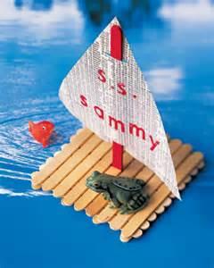 popsicle sticks crafts for diy popsicle stick boat for crafts