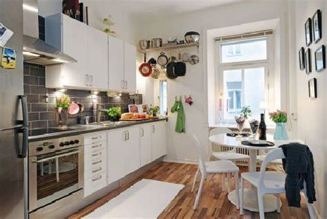 hunky design ideas of small apartment kitchens with wooden floors also corner table set plus