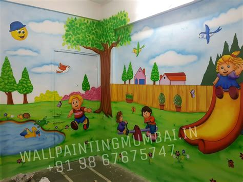 wall murals for schools room painting specialist artist for play