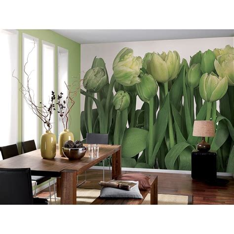home depot wall murals komar 100 in x 145 in tulips wall mural 8 900 the home
