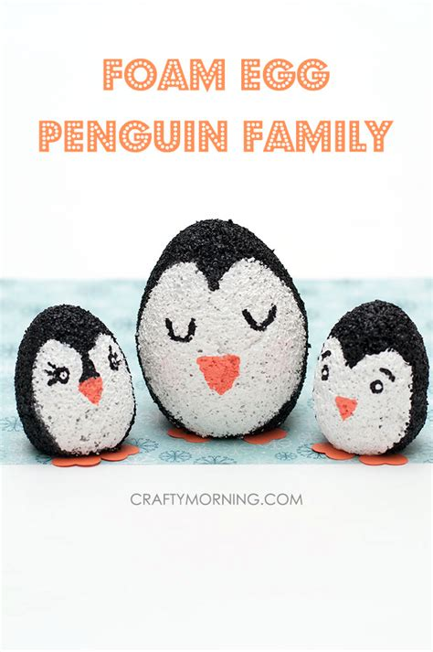 penguin crafts for foam egg penguin craft for crafty morning