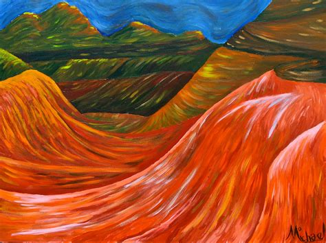 acrylic painting mountains mountains original acrylic painting on canvas by michael