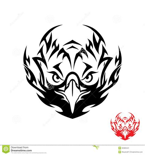 tribal eagle tattoo stock image image 30383441
