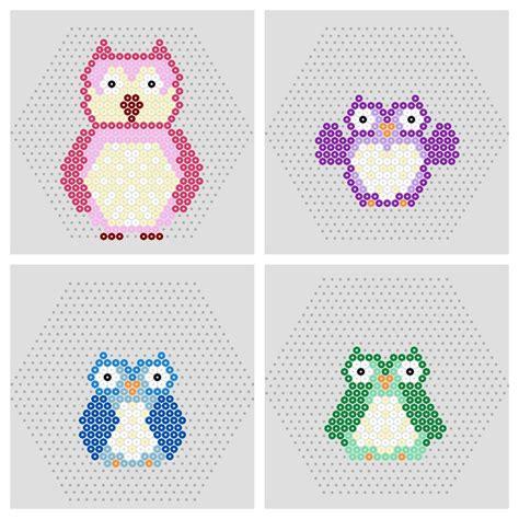 free hama bead patterns owl penguin free printable hama bead patterns