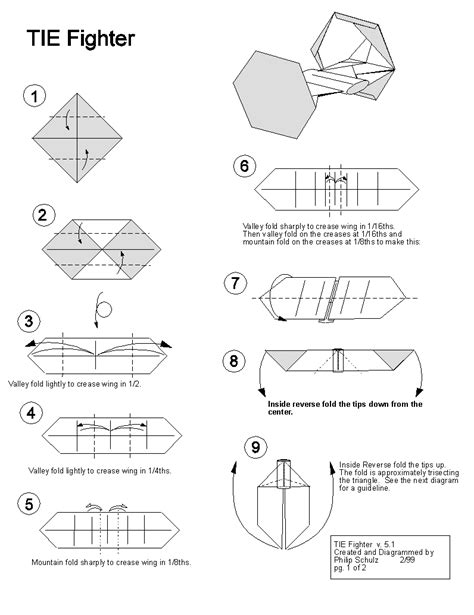 how to make an easy origami x wing wars tie fighter origami awesomeness