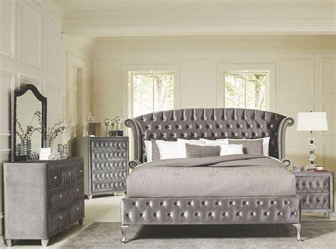 velvet bedroom furniture deanna grey velvet king platform bed 20510ek savvy