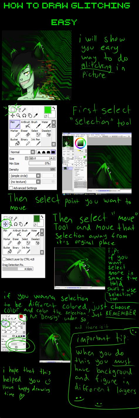 drawing with paint tool sai tutorial tutorial how to draw glitching paint tool sai by