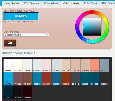 color scheme generator fast color scheme palettes tools and generators for