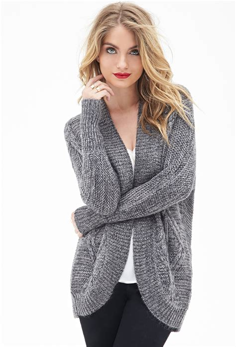 cable knit cardigan forever 21 contemporary cable knit batwing cardigan in