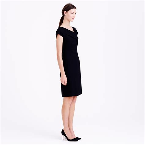 j crew origami dress j crew origami dress in wool crepe in black lyst
