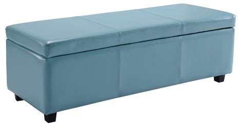 blue storage ottoman view larger