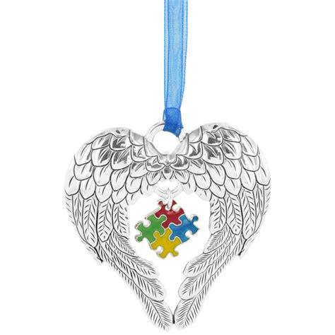 wings ornament wings of an puzzle ornament the autism site