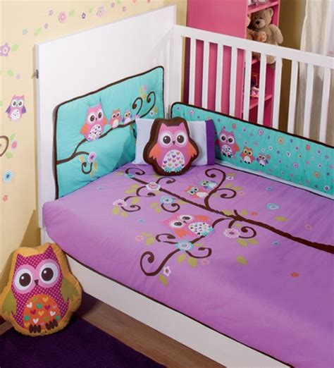 purple owl crib bedding nw baby purple violet aqua baby owl crib sheets