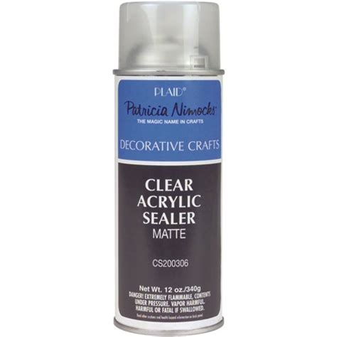 acrylic paint sealer for canvas plaid nimocks clear acrylic sealers 12 ounce