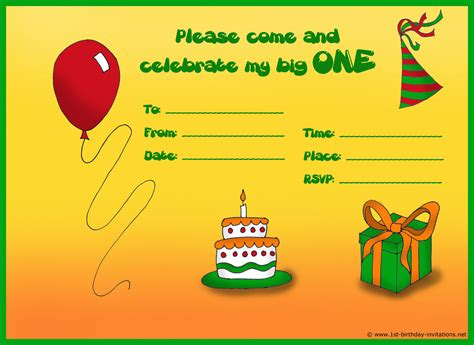 how to make invitations how to create birthday invitations and cards 1st