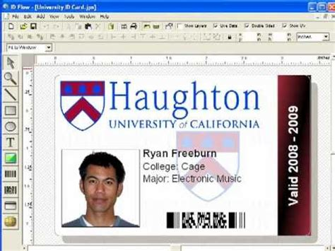 photo id card software free id card printer software id flow