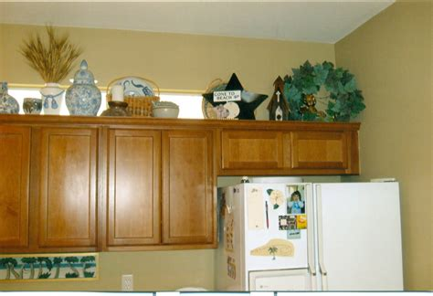 idea for kitchen decorations decoration decorating above kitchen cabinets jen joes