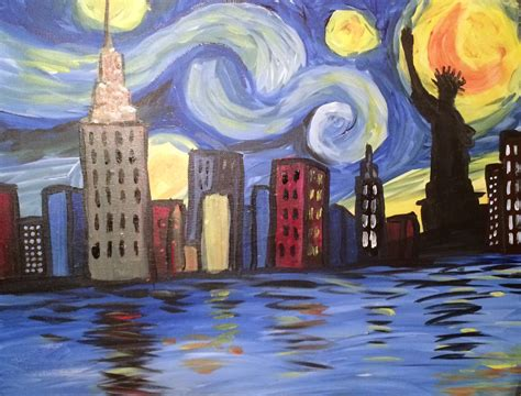 paint nite nyc calendar starry nite new york at spoto s bronx paint nite events