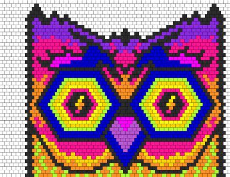 pony bead owl pattern edc owl bead pattern peyote bead patterns animals bead