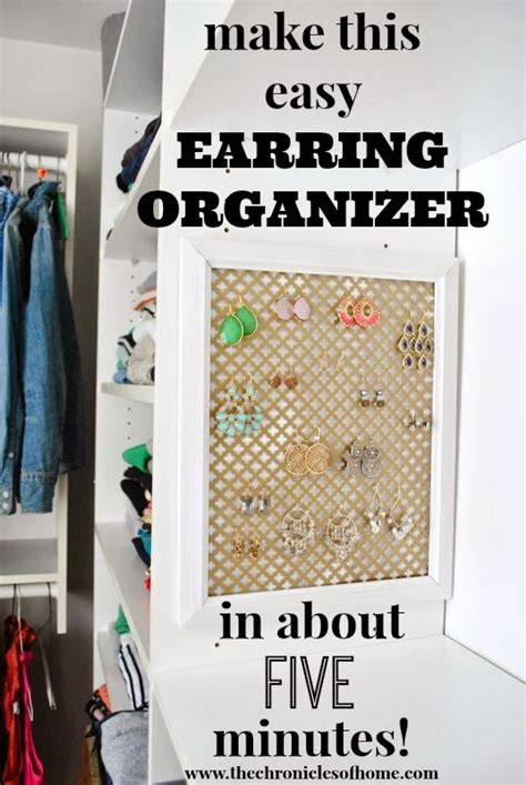 how to make cheap jewelry five minute earring organizer the chronicles of home