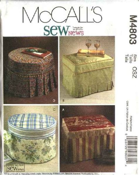ottoman slipcover pattern mccall s sewing pattern 4803 sewnews rectangle