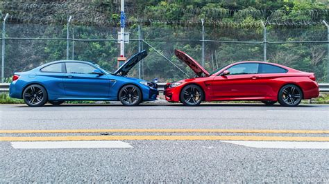 Bmw Of by Bmw M2 Next To The M4 For A Photoshoot