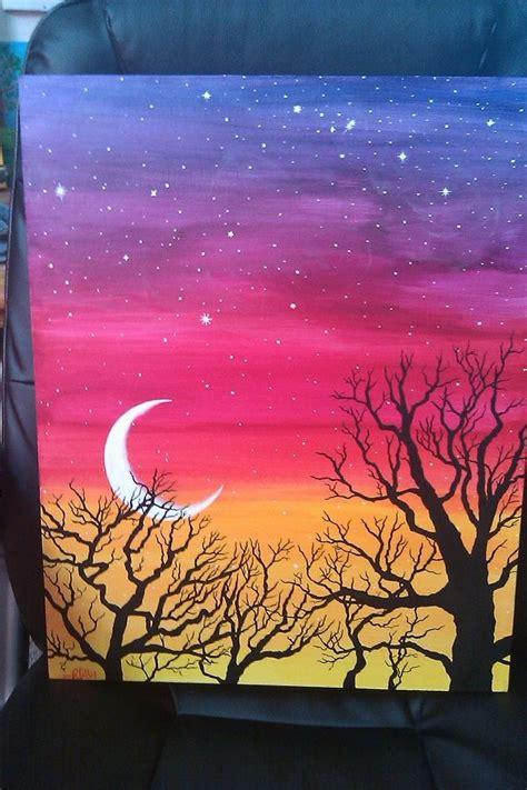 painting acrylic landscapes easy way 1000 bilder zu diy auf