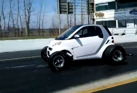 V8 Smart Car by Drag Racing V8 Engined Smart Car Is One City Machine