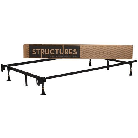 size adjustable bed frame 6 leg adjustable 2 in 1 size metal bed frame