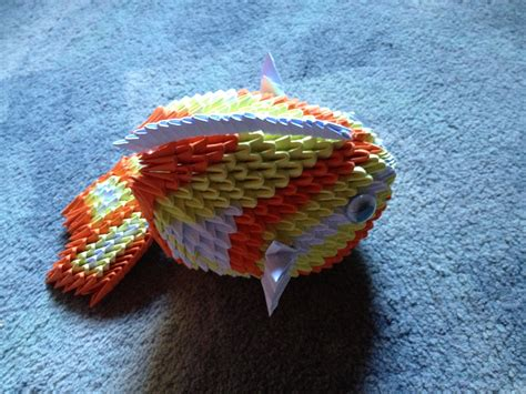 3d fish origami 3d origami fish by tilly001 on deviantart