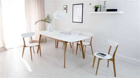 modern kitchen table and chairs modern white and oak extending dining set dining chairs
