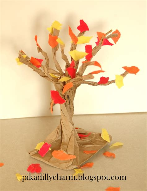 paper bag tree craft pikadilly charm paper bag fall tree
