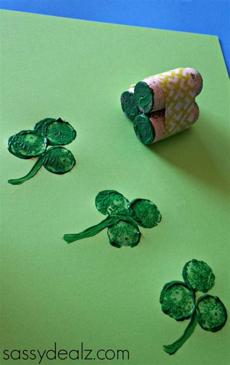 st patricks crafts for wine cork shamrock craft for st s day crafty