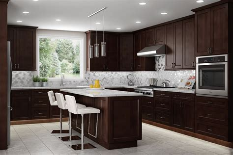 espresso shaker kitchen cabinets learning center lifedesign home