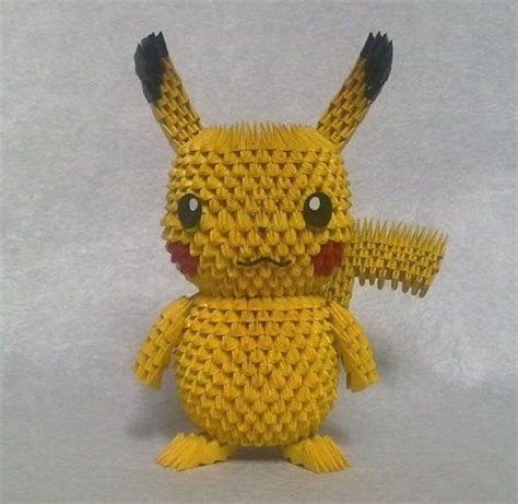 how to make a 3d origami pikachu the world s catalog of ideas