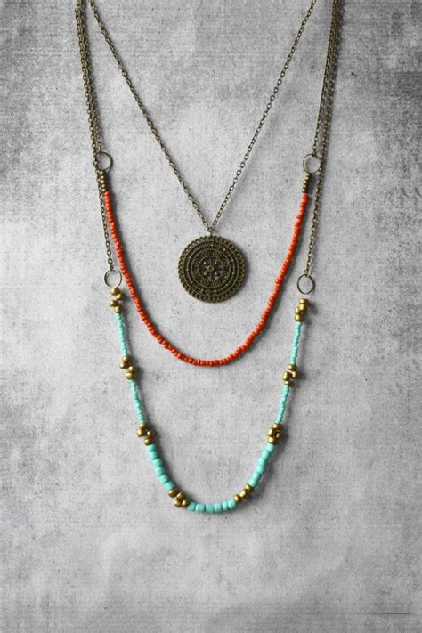 how to make hippie jewelry 25 best ideas about bohemian necklace on