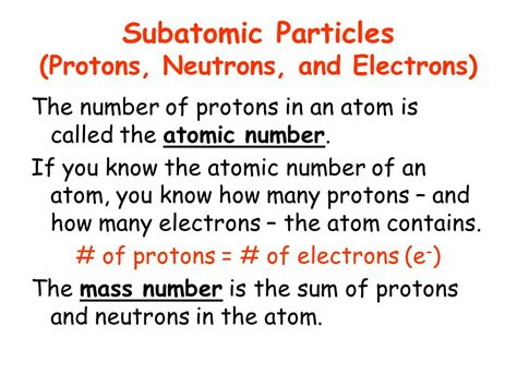 Definition Of Protons Neutrons And Electrons by The Sum Of Protons And Neutrons Chapter 4 Atomic