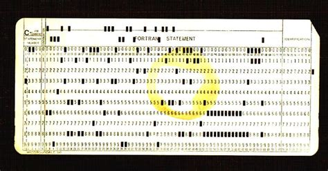 punches card 80 column punched card