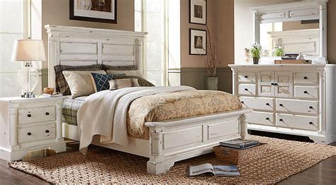 white king size bedroom set claymore park white 5 pc king panel bedroom king