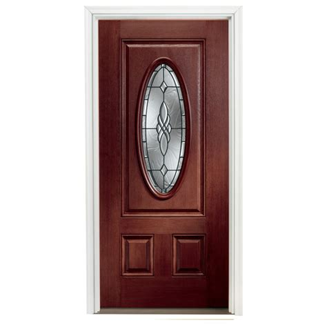 lowes front doors for homes shop reliabilt lite clear outswing fiberglass entry