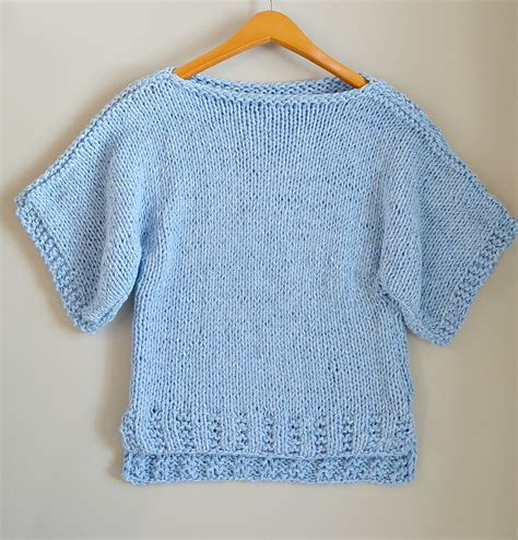 steps to knit a sweater easy knit boxy t shirt quot quot pattern in a stitch