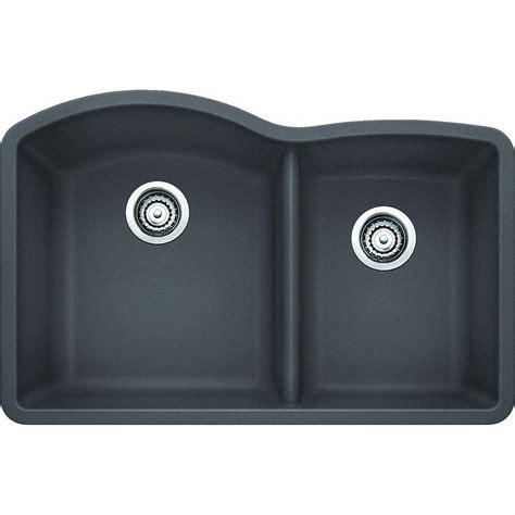 kitchen sink expression blanco precis cascade undermount granite composite 29 in