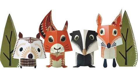 paper animal crafts animal paper crafts designed by mibo gadgetsin