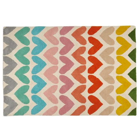 heart to heart kids area rug the land of nod